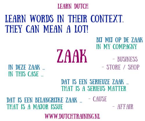 Dutch words in context