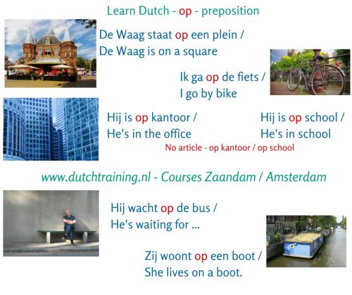 Learn Dutch - op - preposition