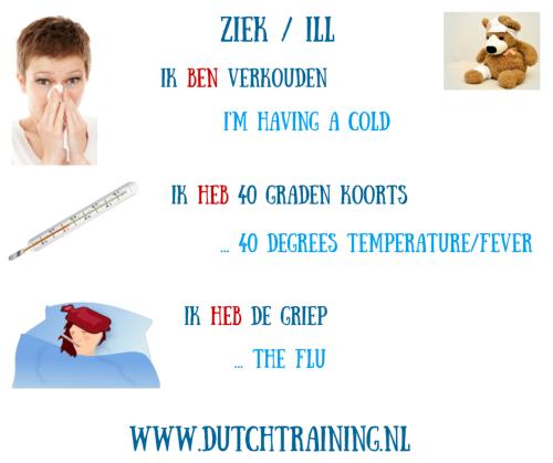 Leer Nederlands - ziek