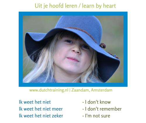 Nederlands uit je hoofd leren