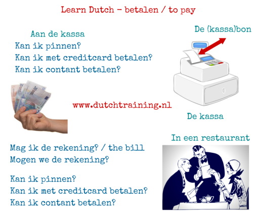 learn Dutch - to pay